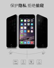 iphone6plus手機保護屏高清防窺鋼化玻璃屏圖片