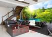 来图定制竹木纤维集成墙面板3D立体电视沙发背景墙3D数码喷绘