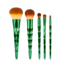 化妆套刷平头刷伸缩刷化妆刷彩妆配件尼龙毛动物毛铝管木柄铜管