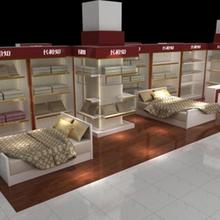 廠家直接生產成都家紡展柜展示柜貨柜貨架床上用品展柜展示柜圖片