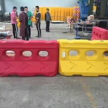 滚塑吹塑水马隔离墩-塑料注水围栏围挡-滚塑防撞桶水马围栏