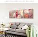 618促銷價家用客廳花卉系列裝飾畫拼接圖案三聯畫墻畫