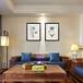 熱銷定制款油畫裝飾畫家用沙發背景墻三聯畫原創掛畫設計
