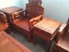鲁创红木缅甸花梨木红木客厅沙发实木古典家具大果紫檀沙发八宝祥和沙发