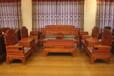 鲁创红木缅甸花梨木红木客厅沙发实木古典家具大果紫檀沙发荷塘月色沙发沙发