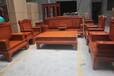 鲁创红木非洲花梨木红木客厅沙发实木古典家具刺猬紫檀沙发兰亭序沙发