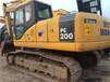 二挖掘机200小松挖掘机动力十足底盘无间隙手续齐全小型挖掘机