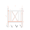 仿木单交叉护栏模具