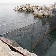 水库围网,聚酯水库围网图片