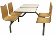 西安科阳餐桌椅饭店/食堂/小吃摊餐桌椅连体餐桌椅