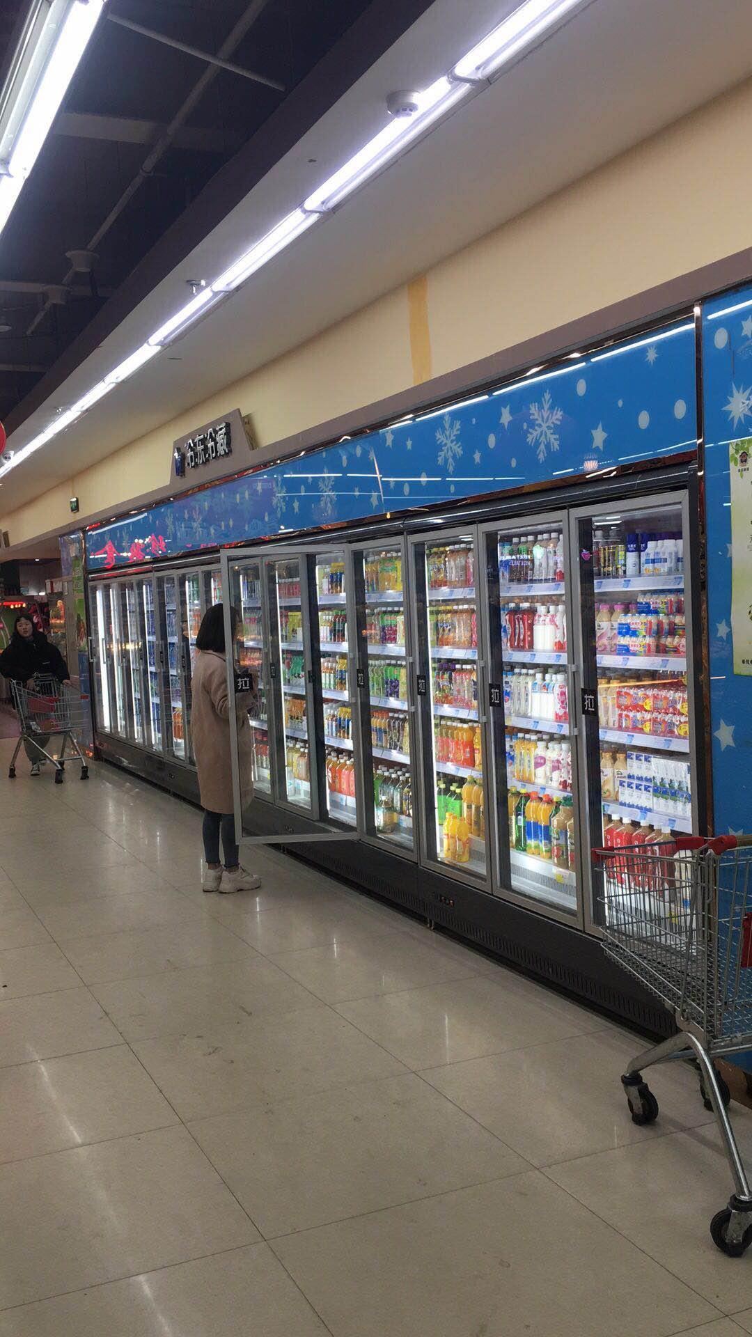郑州专业定制饮料保鲜柜的厂家立风柜风幕柜品牌