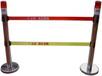 不锈钢伸缩围栏不锈钢+铸铁底座或ABS塑料