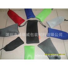 厂家定制新款网布束口袋纯色收口抽绳网眼袋防尘收纳网布袋批发
