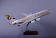 汕头永航飞机模型厂家定制空客A380阿提哈德航空树脂飞机模型45cm