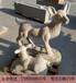 母子鹿石雕公园摆放梅花鹿石雕动物石雕小品