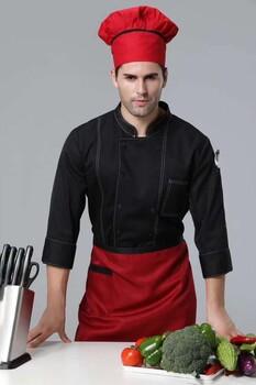 番禺区厨师服定做/酒店厨师服定做/餐厅厨师服定做/刺绣logo