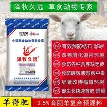 泽牧久远肉羊预混料预防尿结石快速增重提高采食量图片