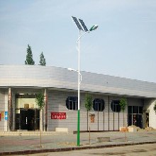 百耀照明厂家供应广西玉林市容县6米太阳能路灯/市电路灯/庭院灯送货上门图片