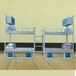 深圳厂家批发拆装上下柜铁床加厚牢固高低员工学校公寓双层铁架床