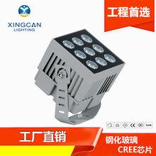 厂家推荐LED罗马柱投光灯60W窄光束一束光方形投光灯科锐光源洗墙投光灯图片