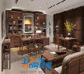 上海办公家具定制实木办公桌-E28