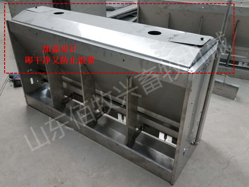 猪用干湿料槽双面料槽不锈钢食槽育肥猪料槽自动采食槽
