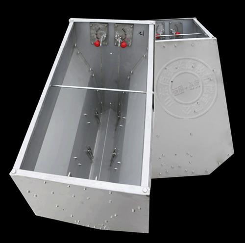 育肥猪料槽不锈钢双面采食槽自动料槽节省饲料食槽省料猪槽