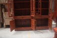 非花明式两组合书柜-红木的种类-红木衣柜,书柜