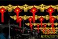 雨傘圖案夢幻燈光節戶外過街燈LED路燈桿光雕市政亮化工程案例
