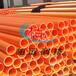 曹縣、鄆城、巨野橘紅色MPP電力管1808生產廠家基礎建材直銷批發mpp電力管