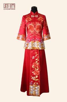 卿佩华服手工刺绣中式嫁衣高端私人定制厂家