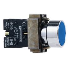 供应施耐德代理商按钮开关指示灯XB2BA61C蓝色组合按钮常开常闭复位开关图片