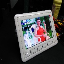 9英寸白色车载头枕框数字屏车载显示器图片