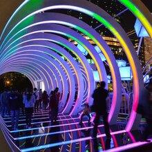 滁州灯光节与风车的完美搭配