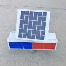 LED太阳能交通爆闪灯太阳能黄闪灯交通警示灯道路口频闪灯