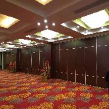 武汉酒店宴会厅活动折叠隔断墙移动隔墙工厂定制图片