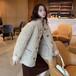 37毛颗粒绒大衣,款式时尚质量好,品牌女装折扣批发