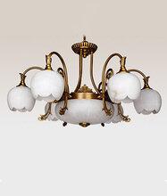 进丰欧式全铜吊灯云石灯别墅客厅卧室餐厅吊灯图片