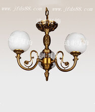 进丰灯饰云石灯厂家全铜云石吊灯欧式别墅餐厅灯图片