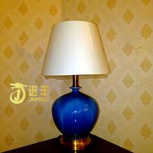 景德镇陶瓷台灯卧室床头灯欧式全铜陶瓷灯厂家直销图片