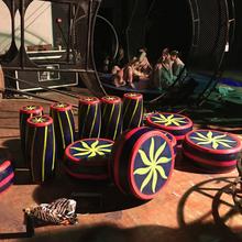 厂家直销定制卡通装饰道具舞台道具花鼓图片