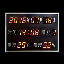 万年历温湿度电子看板供应苏州/无锡/上海/浙江/昆山/常熟/南京