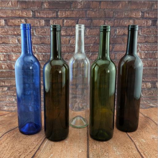 750ml墨绿色酒瓶葡萄酒瓶茶色红酒玻璃瓶