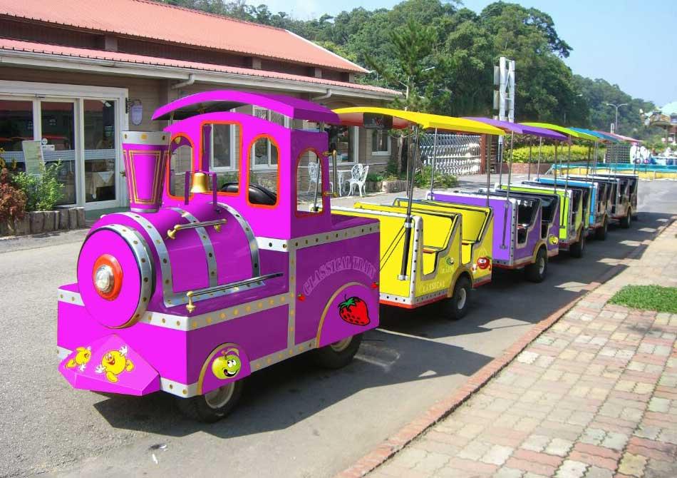 儿童游乐设施轨道小火车,小型儿童游乐设备