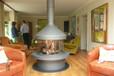 乔治RG1202悬挂式定制壁炉现代燃木火炉实木取暖别墅壁炉