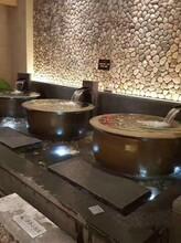 温泉日式极乐汤洗浴中心陶瓷泡汤缸图片