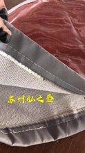 耐高溫圍帶2.0雙面硅膠布硅酸鈦金防火軟接布圖片