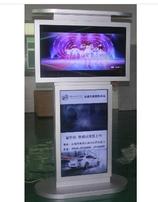 立式上下双屏广告机,定制双屏液晶广告机,机场、车站广告机,码头55寸双屏一体机图片