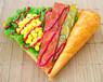 特色小吃美食小车免费加盟一对一教学行业领先卷巴卷吧手握卷饼