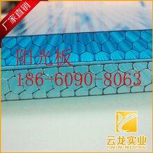pc阳光板透明840型中空阳光板10mm厚蜂窝板隔音板价格